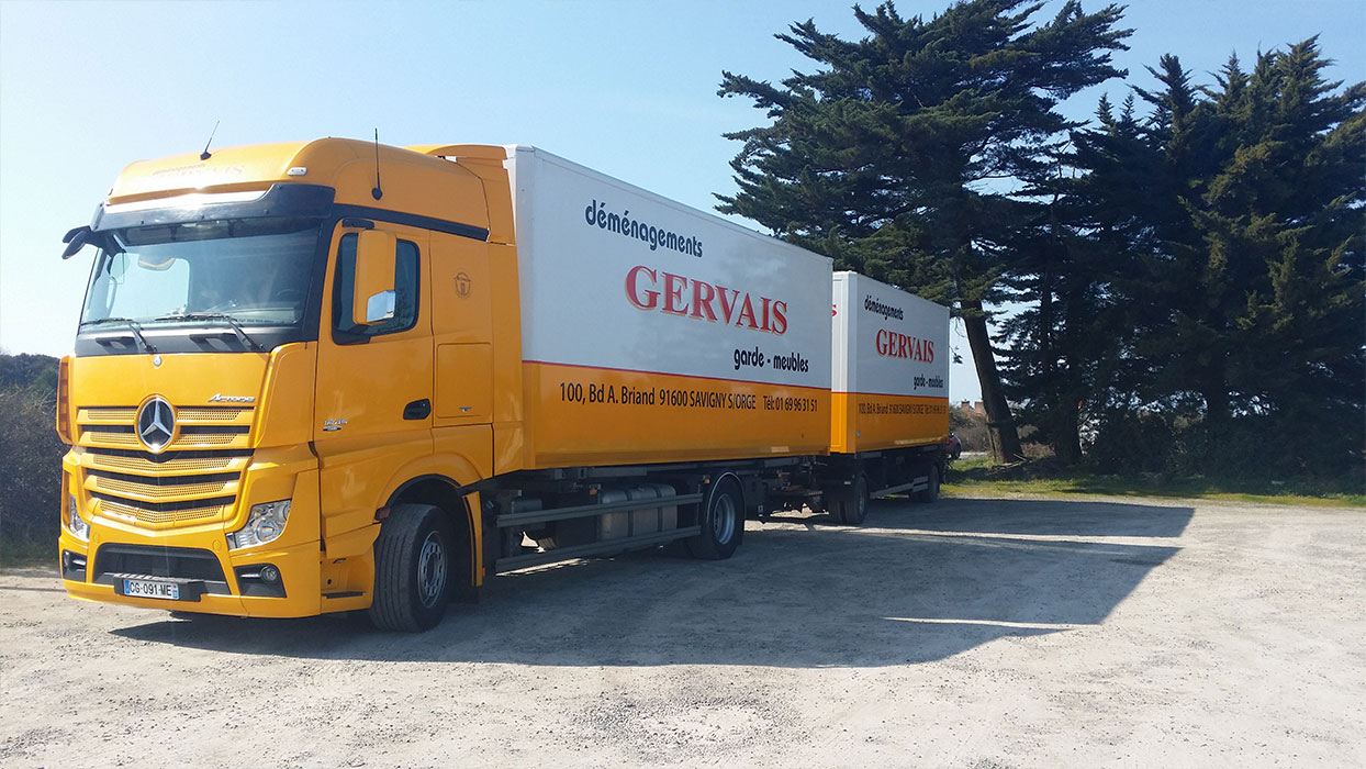 camion demenagement remorque double 3